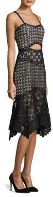 Alice + Olivia Tamika Cut Out Handkerchief Dress