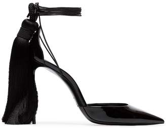 Saint Laurent Zoe 105 tassel heel patent leather d'Orsay pumps