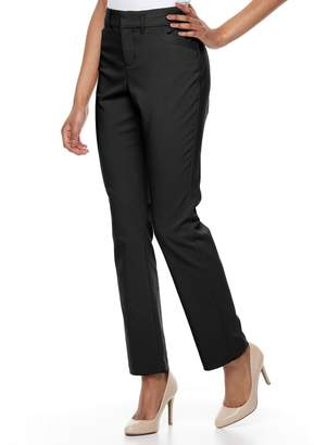 Gloria Vanderbilt Petite Haven Microtech Straight-Leg Pants