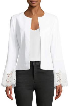 Neve Kobi Halperin Lace-Back Long-Sleeve Jacket
