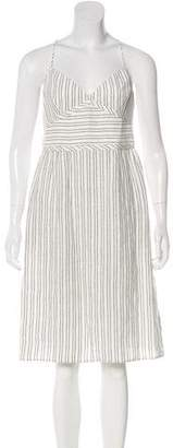Theyskens' Theory Silk Printed Midi Dress w/ Tags