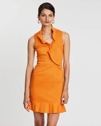 Karen Millen Ruffle Front Dress