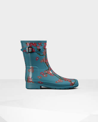 Hunter Women's Refined Blossom Print Short Wellington Boots