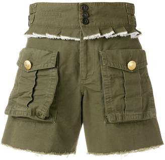 DSQUARED2 pleated trim cargo shorts
