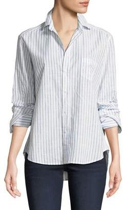 Frank And Eileen Eileen Long-Sleeve Button-Down Classic Stripe Cotton Shirt