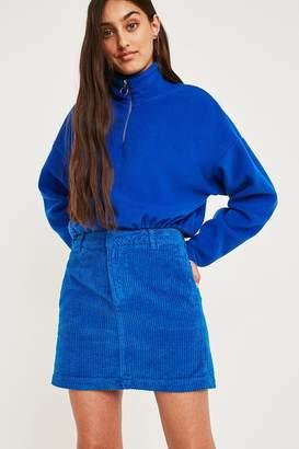 BDG Blue Corduroy Mini Skirt