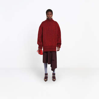 Balenciaga Wool oversize crewneck with double hem effect