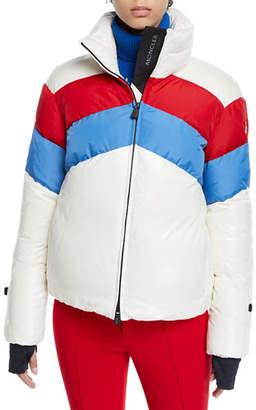 Moncler Lamar Colorblock Ski Coat