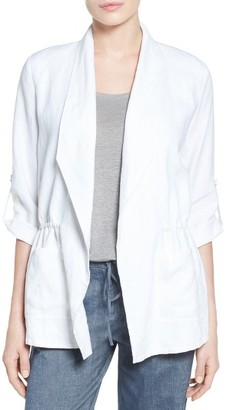 Women's Chaus Linen Roll Tab Jacket $119 thestylecure.com