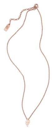 Junior Women's Cam Cactus Pendant Necklace