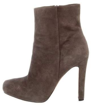 Jean-Michel Cazabat Suede Round-Toe Ankle Boots