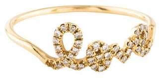 Sydney Evan 14K Diamond 'Love' Script Ring