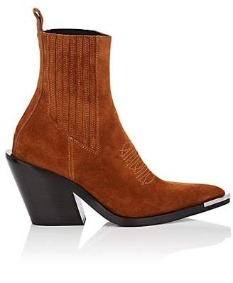Paco Rabanne Women's Suede Ankle Boots - Brown