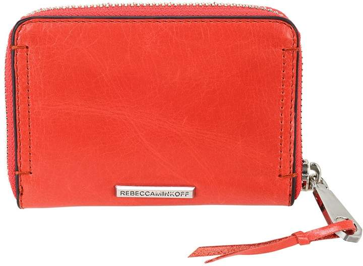 Rebecca Minkoff Mini Regan Leather Wallet - Blood Orange - ONE COLOR - STYLE