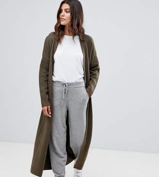 Blend of America Micha Lounge luxe oversized maxi cardigan with tie waist in mohair