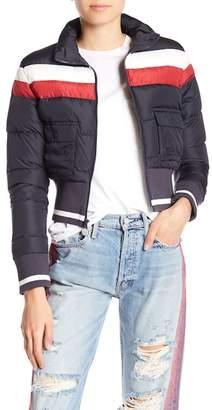 Mother Front Zip Puffer Jacket