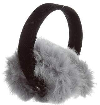 Adrienne Landau Fur Velvet-Trimmed Earmuffs