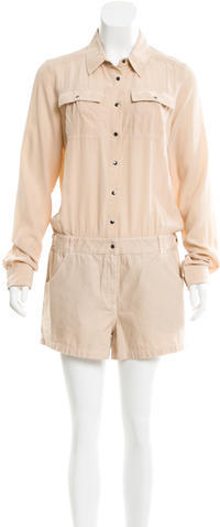 Elizabeth And James Elizabeth and James Leo Silk-Accented Romper w/ Tags