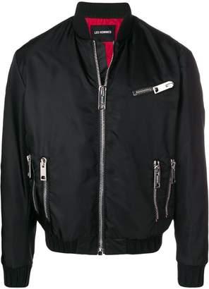Les Hommes zip detail bomber jacket