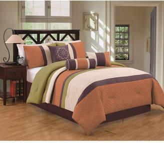 Luxlen Petersburgh 7 Piece Comforter Set, King Bedding