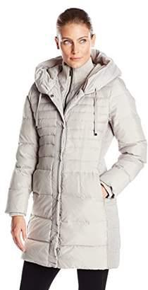 Fleet Street Ltd. Women's Down Coat with Inner Bib and Hood