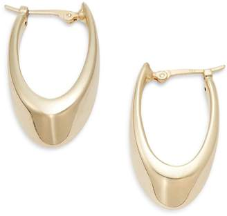 Saks Fifth Avenue Women's 14K Yellow Gold Medium Visor Hoop Earrings/1.25""