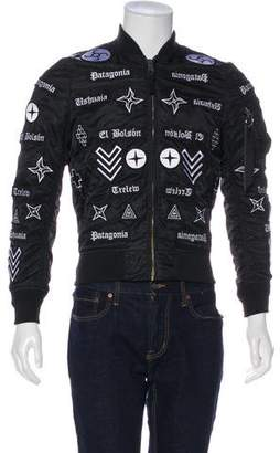 Marcelo Burlon County of Milan Applique Bomber Jacket w/ Tags