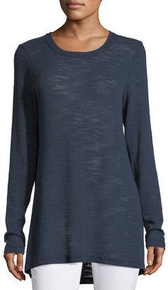 Allen Allen Long-Sleeve High-Low Top $49 thestylecure.com
