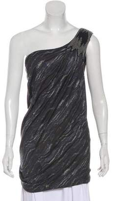 Yigal Azrouel Cut25 by Embellished One-Shoulder Tunic