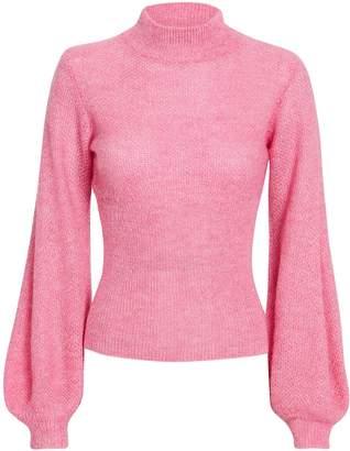 Nicholas Pink Blouson Sleeve Sweater
