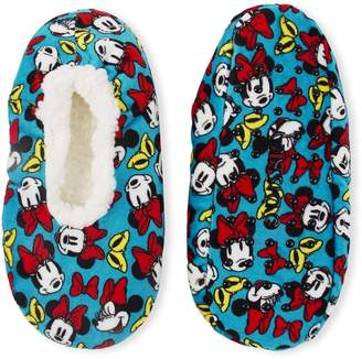 575 Denim High Point Design Minnie Mouse Silky Suede Babba Womens' Slipper Socks (S/M) Shoe Size 5-7.5