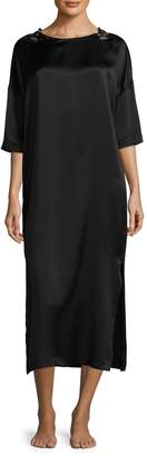 Hanro Three-Quarter Sleeve Long Nightgown