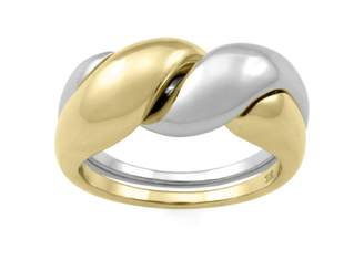 Monarc Jewellery - The Two-Tone Puzzle Ring 9ct Gold And Sterling Silver
