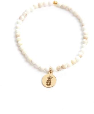 Eff.Y.Bee eff.Y.bee Mini Bliss Howlite Beaded Pineapple Charm Bracelet