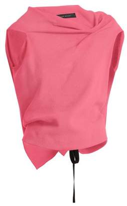 Roland Mouret Eugene Wool Crepe Top - Womens - Fuchsia