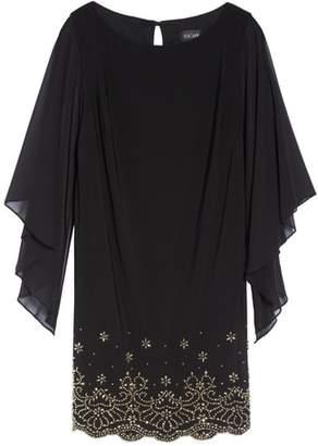 Xscape Evenings Embellished Chiffon Shift Dress