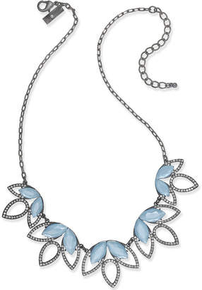 INC International Concepts I.N.C. Hematite-Tone Pavé & Blue Stone Statement Necklace, Created for Macy's