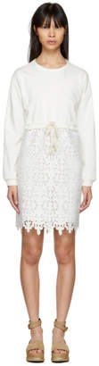 See by Chloe Off-White Broderie Anglaise Dress