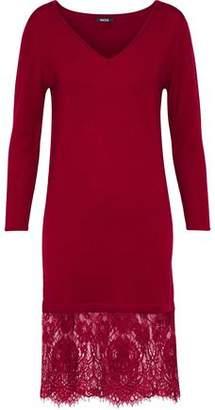 Raoul Lace-Paneled Merino Wool Dress
