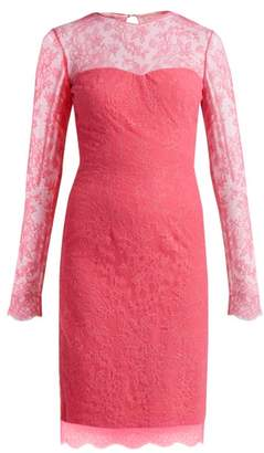 Emilio De La Morena Mona Lace And Silk Blend Mini Dress - Womens - Pink