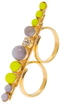 Anton Heunis Color Block Double Finger Ring