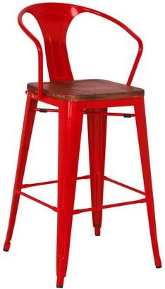 Apt2B Grand Metal Bar Chair RED - SET OF 4