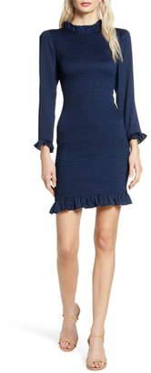 Ali & Jay Invites Only Smocked Long Sleeve Minidress