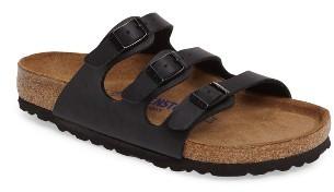 Women's Birkenstock Florida Soft Footbed Slide Sandal $99.95 thestylecure.com