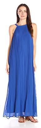 Lark & Ro Women's Micro Pleated Chiffon Maxi Dress