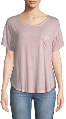ATM Anthony Thomas Melillo Sun-Bleached Crewneck Short-Sleeve Pocket Tee