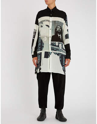 Yohji Yamamoto Longline regular-fit poplin shirt