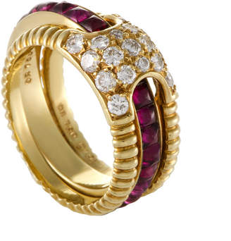 Christian Dior HERITAGE  18K 2.75 Ct. Tw. Diamond & Ruby Ring