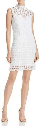 Laundry by Shelli Segal Mock Neck Lace Dress