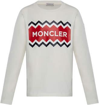 Moncler Long-Sleeve Logo Graphic T-Shirt, Size 8-14
